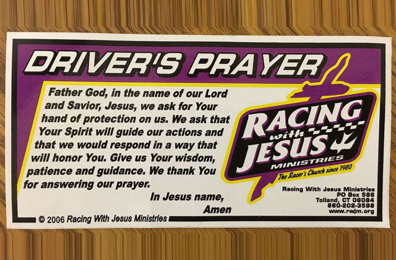 THE DRIVER'S PRAYER | Racing with Jesus Ministries