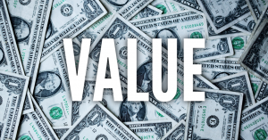 Word Value on top of money